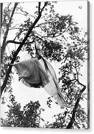 A Model Wearing A Dress In A Tree Acrylic Print by Gene Moore
