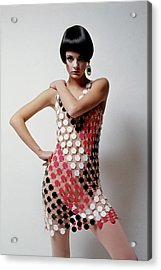 A Model Wearing A Mini Dress Acrylic Print by David Mccabe
