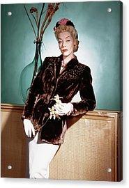 A Model Wearing A Sealskin Jacket Acrylic Print by Horst P. Horst