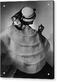 A Model Wearing Lanvin Acrylic Print by Horst P. Horst