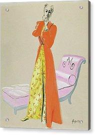A Model Wearing Pajamas Acrylic Print by R.S. Grafstrom