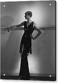 A Model Wearing Schiaparelli Acrylic Print by Horst P. Horst