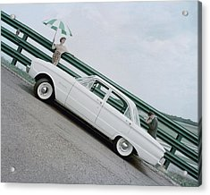 A Model With A Ford Falcon Acrylic Print