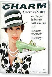 A Model With A Margaret Jerrold Kidskin Shoe Acrylic Print