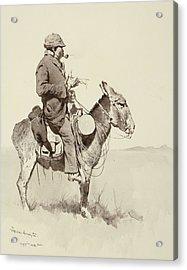 A Modern Sancho Panza Acrylic Print by Frederic Remington