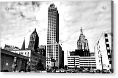 A Moment In Time...tulsa Ok Acrylic Print by Chris Tarpening