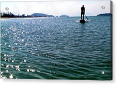A Moment Of Enjoy Sup #1 Acrylic Print by Chikako Hashimoto Lichnowsky