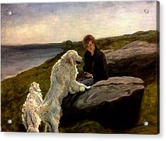A Moment Of Repose With The Magnificent Dogs Acrylic Print