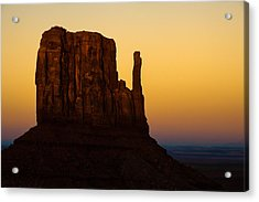 A Monument Of Stone - Monument Valley Tribal Park Acrylic Print by Gregory Ballos