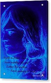 A Moody Blue Acrylic Print