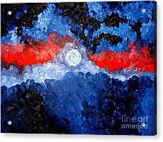 A Moon Acrylic Print by Josh  Williams