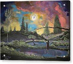 A Moonlit Swing Acrylic Print