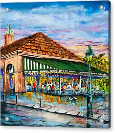 A Morning At Cafe Du Monde Acrylic Print by Dianne Parks