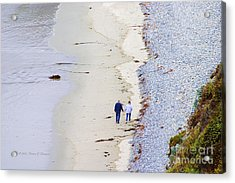 A Morning Walk Along The Beach  Acrylic Print