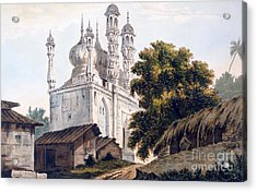 A Mosque At Gazipoor Acrylic Print by William Hodges