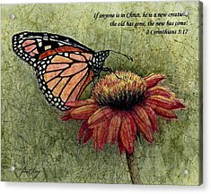 A New Creation From A Butterfly In My Garden Acrylic Print