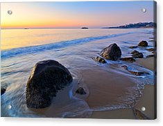 A New Day Singing Beach Acrylic Print by Michael Hubley