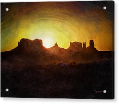A New Day - Monument Valley Acrylic Print