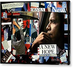 Barack Obama A New Hope Acrylic Print by Isis Kenney