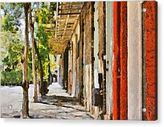 A New Orleans Alley Acrylic Print by Christine Till