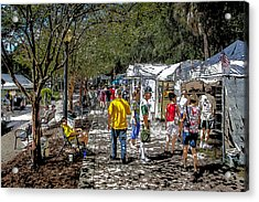 A Nice Day In The Park Art Show Acrylic Print