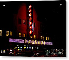 A Night At The Pageant Acrylic Print