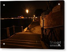 A Night Walk In Venice Acrylic Print