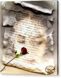 A Note And She Was Gone Acrylic Print by Gun Legler