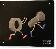 A Nut Chasing A Screw Acrylic Print