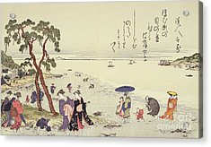 A Page From The Gifts Of The Ebb Tide Acrylic Print by Kitagawa Utamaro