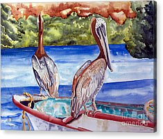 A Pair Of Pelicans Acrylic Print