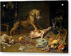 A Pantry Acrylic Print by Frans Snyders