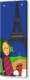 A Paris Acrylic Print by Michelle Berger
