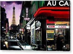 A Paris Night Acrylic Print by Marcos Lara