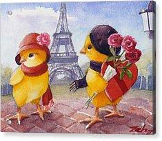 A Paris Valentine Acrylic Print