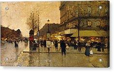 A Parisian Street Scene Acrylic Print