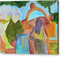 Acrylic Print featuring the painting A Path To Discover- Caprian Beauty Series 1 by Elizabeth Fontaine-Barr