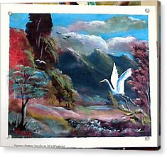 A Peace Of Nature Acrylic Print by M bhatt