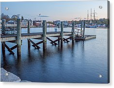 A Peaceful Dock -  Mystic Ct Acrylic Print