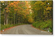 A Peaceful Road Acrylic Print by Charles Kozierok
