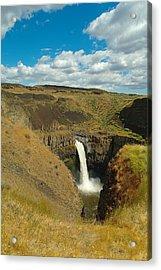 A Peak Of Palouse Falls Acrylic Print by Jeff Swan
