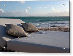 Acrylic Print featuring the photograph A Perfect Day On The Beach by Karen Lee Ensley