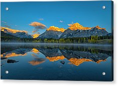 A Perfect Morning In Canadian Rockies Acrylic Print by Michael Zheng