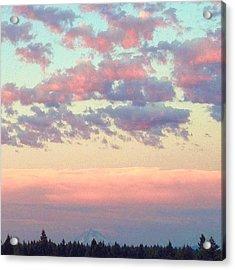 Summer Evening Under A Cotton Acrylic Print by Blenda Studio