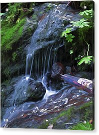 Acrylic Print featuring the digital art A Picture Of Fresh Spring Run Off. by Timothy Hack