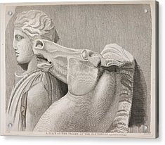 A Piece Of The Frieze Of The Parthenon Acrylic Print by British Library