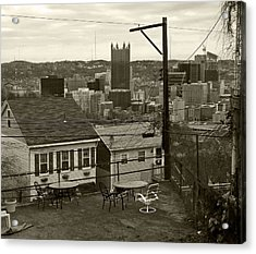A Pittsburgh Backyard Acrylic Print
