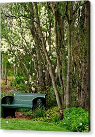Acrylic Print featuring the photograph A Place To Sit by Rodney Lee Williams