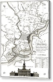 A Plan Of The City And Environs Of Philadelphia - 1777 Acrylic Print by Pablo Romero