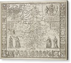 A Plan Of The County Of Cambridgeshire Acrylic Print by British Library